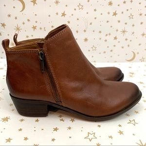 Lucky Brand | Basel Toffee Brown Leather Booties